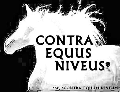 Contra Equus Niveus Logo